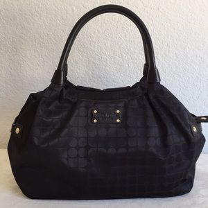 Kate spade fabric with leather bag